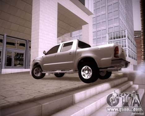 Toyota Hilux for GTA San Andreas back left view