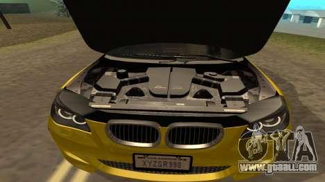 BMW M5 E39 for GTA San Andreas upper view