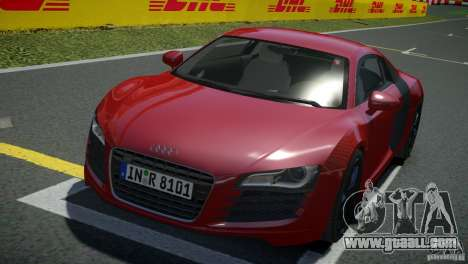 Audi R8 V8 2008 v2.0 for GTA 4 back left view