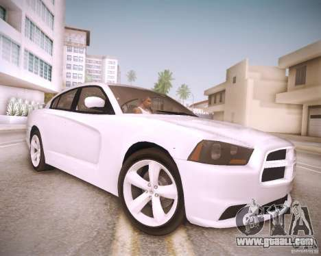 Dodge Charger 2011 v.2.0 for GTA San Andreas back view