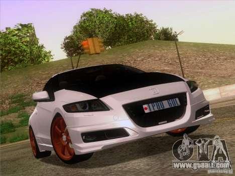 Honda CR-Z Mugen 2011 V2.0 for GTA San Andreas interior