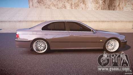 BMW 530I E39 stock white wheels for GTA 4 inner view