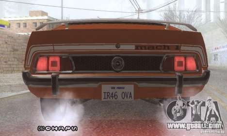Ford Mustang Mach1 1973 for GTA San Andreas bottom view
