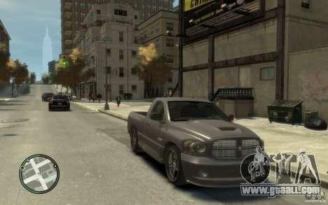 Dodge Ram SRT10 for GTA 4 back view