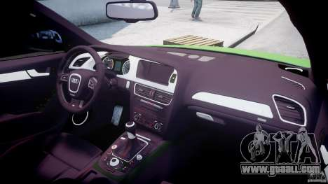 Audi S4 2010 v1.0 for GTA 4 upper view