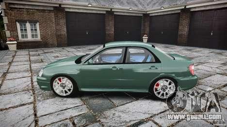 Subaru Impreza v2 for GTA 4 left view