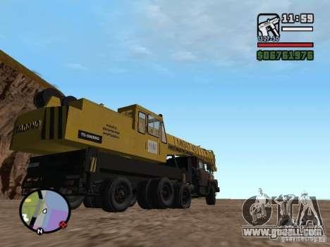 KrAZ-250 MKAT-40 for GTA San Andreas back view