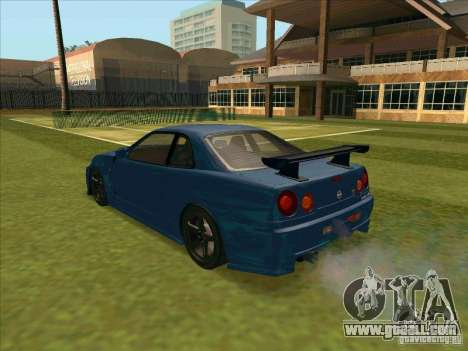 Nissan Skyline GT-R R34 from FnF 4 for GTA San Andreas left view