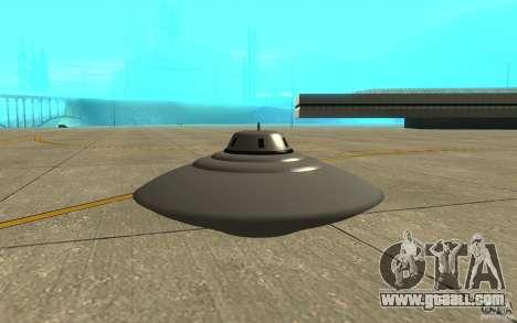 Bob Lazar Ufo for GTA San Andreas back left view