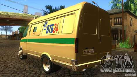 Gazelle 2705 transportation services for GTA San Andreas back left view