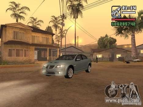 Pontiac G8 GXP for GTA San Andreas