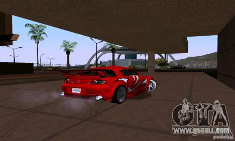 Mazda RX-8 Speed for GTA San Andreas back left view