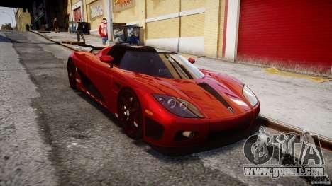 Koenigsegg CCXR Edition for GTA 4 back view
