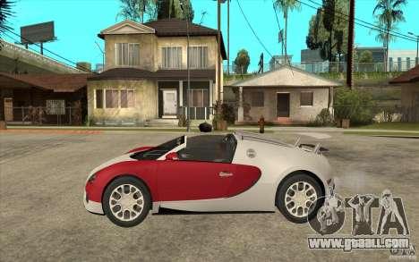 Bugatti Veyron Gran Sport 2011 for GTA San Andreas left view
