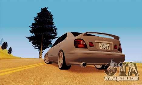 Toyota Aristo for GTA San Andreas left view