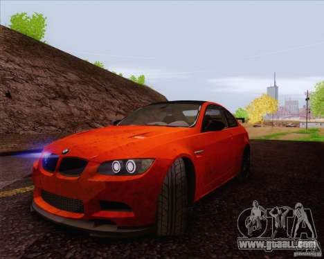 BMW M3 GT-S for GTA San Andreas inner view