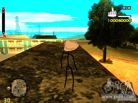 TrollFace skin for GTA San Andreas forth screenshot