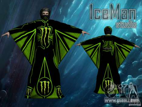 Monster Energy Wingsuit for GTA San Andreas