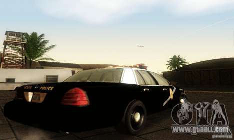 Ford Crown Victoria New Mexico Police for GTA San Andreas left view