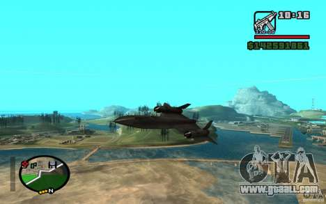 SR-71 Blackbird for GTA San Andreas