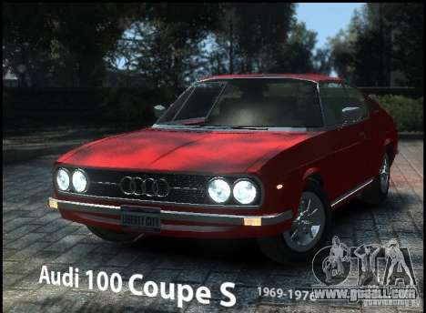 Audi 100 Coupe S 1974 for GTA 4