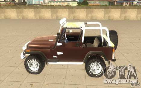 Jeep Wrangler 1986(2) for GTA San Andreas back left view
