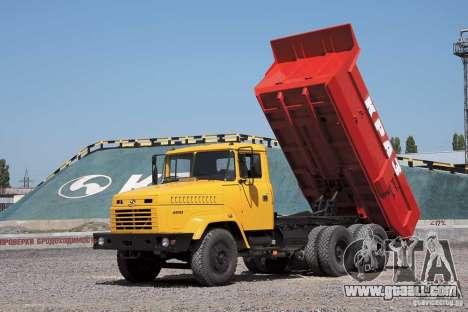KrAZ 65055 Truck for GTA San Andreas upper view