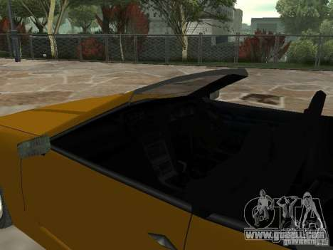 Elegy Of Convertible Tops for GTA San Andreas back left view