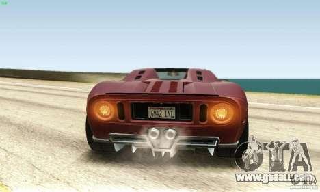 Ford GTX1 Roadster V1.0 for GTA San Andreas inner view