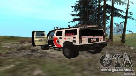 HUMMER H2 Amulance for GTA San Andreas back left view