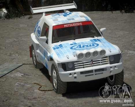 Mitsubishi Pajero Proto Dakar EK86 vinyl 3 for GTA 4 left view