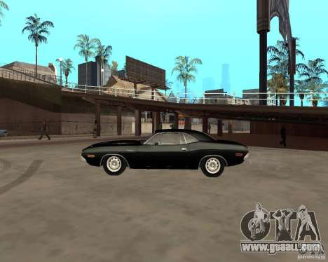 1970 Dodge Challenger R/T for GTA San Andreas left view