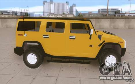 Hummer H2 for GTA San Andreas inner view