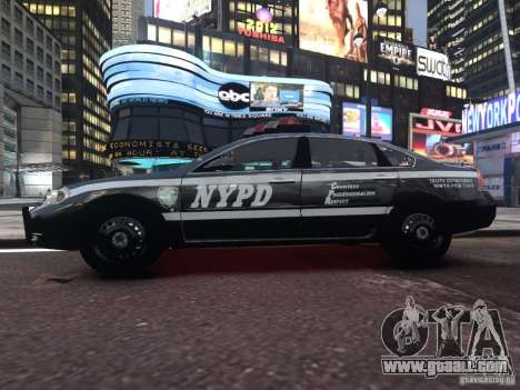 Chevrolet Impala 2006 NYPD Traffic for GTA 4 back view