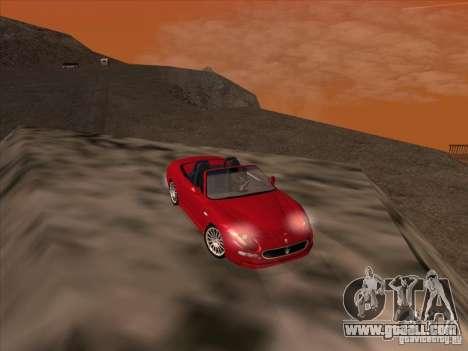 Maserati Spyder Cambiocorsa for GTA San Andreas side view