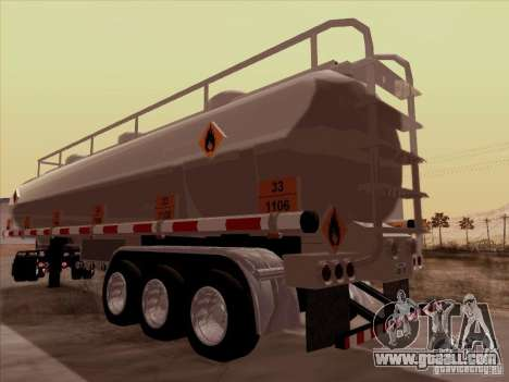 Trailer Kenworth T2000 for GTA San Andreas back left view