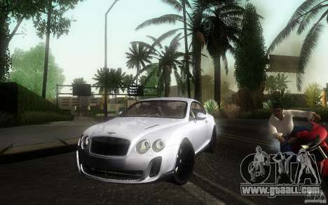 Bentley Continental SS for GTA San Andreas right view