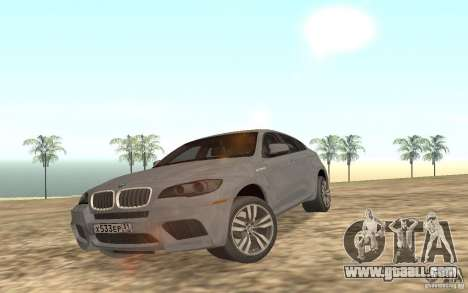 BMW X6M for GTA San Andreas upper view