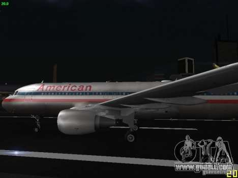 Airbus A320 for GTA San Andreas left view