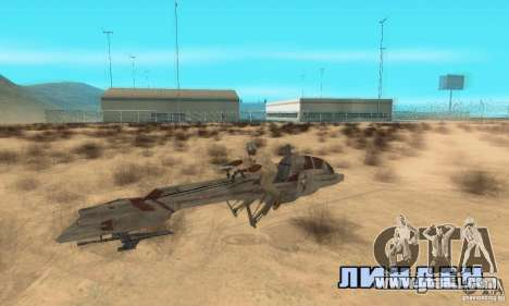 Star Wars speedbike for GTA San Andreas right view