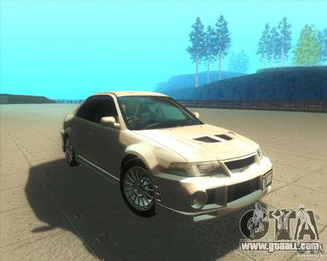 Mitsubishi Lancer Evolution VI 1999 Tunable for GTA San Andreas bottom view