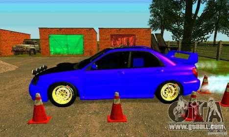 Subaru Impreza WRX Rally for GTA San Andreas back left view