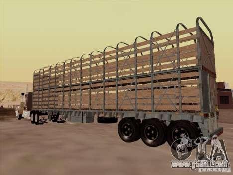 Trailer for Mack RoadTrain for GTA San Andreas back left view
