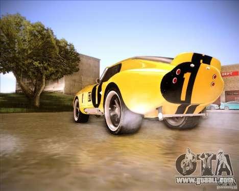 Shelby Cobra Daytona Coupe 1965 for GTA San Andreas back left view