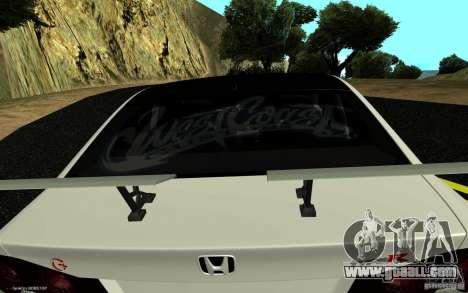 Honda Civic Type R for GTA San Andreas back left view