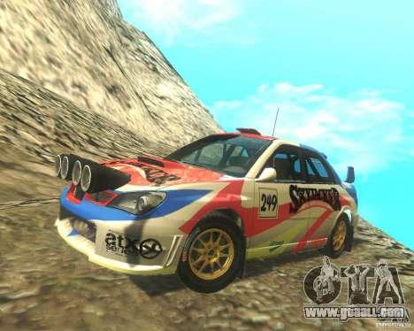 Subaru Impreza WRX STI DIRT 2 for GTA San Andreas bottom view