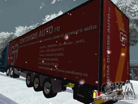 Volvo VNL 670 trailer for GTA San Andreas back left view