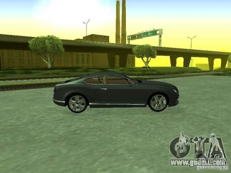 Bentley Continental GT 2010 V1.0 for GTA San Andreas right view