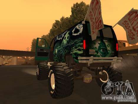 Ford Grave Digger for GTA San Andreas left view