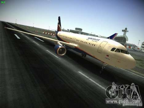 Aeroflot Russian Airlines Airbus A320 for GTA San Andreas inner view